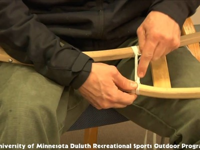 How To lace a Ojibway Style Snowshoe