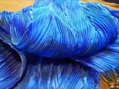 How to make a Batik Feather Shibori Silk Scarf