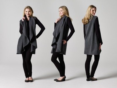 How to Make a Draped Coat | Teach Me Fashion