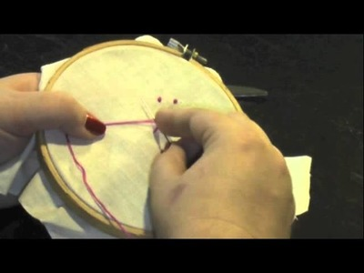 How to make a french or colonial knot for cross stitch and candlewicking