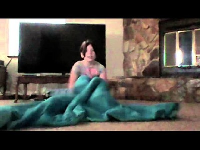 How to make a mermaid tale with just a blanket :)