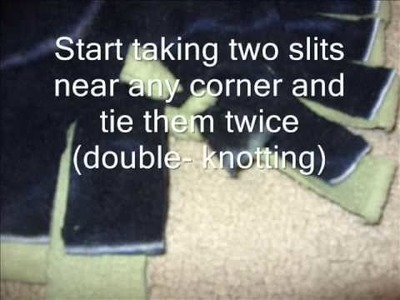 How to make a No-Sew Tie.Knotted Fleece Blanket