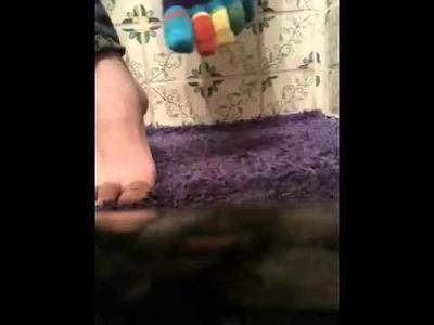 How to put on toe socks
