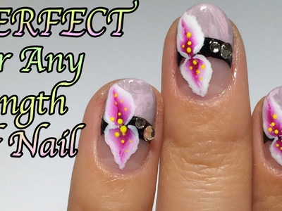 No Water Marble Nail Art+ One Stroke Flower