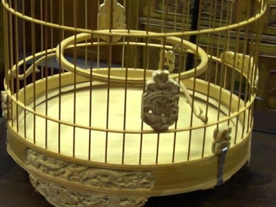 Oriental Chinese Bamboo Hand-made Birdcage s2173m