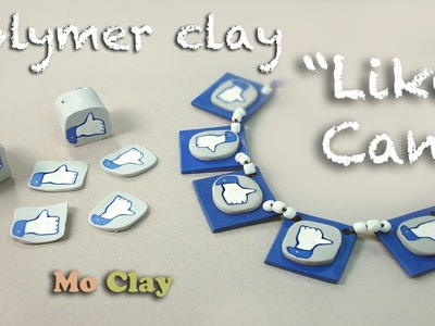 Polymer clay cane tutorial . Like Facebook icon jewelry - Murrina