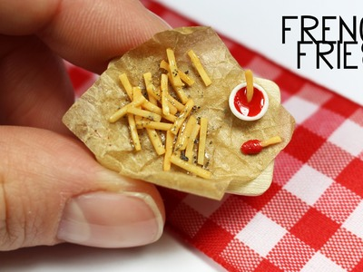 Polymer clay French Fries TUTORIAL
