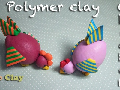 Polymer clay tutorial. How to make a little chicken - Easter project