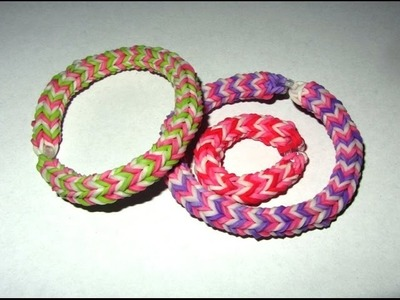 Rainbow Loom QUADRAFISH BRACELET: 4 Pin Design