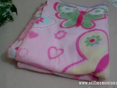 Reborn baby blanket for Savannah and flower props - Nikki Holland vlog #111