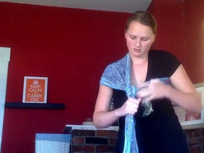 Rebozo Baby Sling with a Scarf