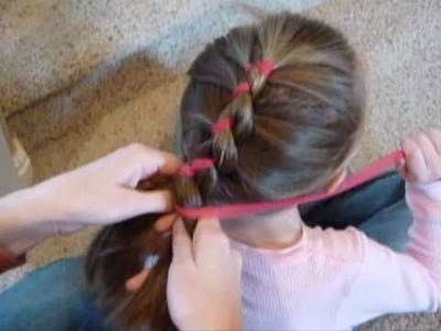 Ribbon French Braid - Easy 2-Strand