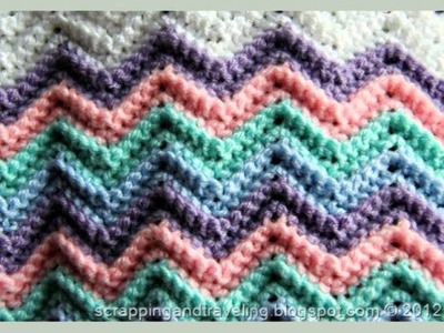 Rickrack Rainbow Baby Blanket
