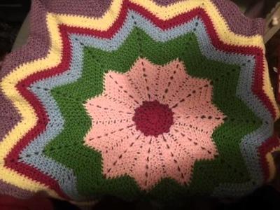 Round ripple baby blanket!