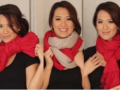 Scarf Tying Ideas - 6 Ways to Wear Your Scarves