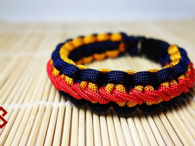 Stormdrane's Stair Step Stitch Cobra Knot Paracord Bracelet Tutorial
