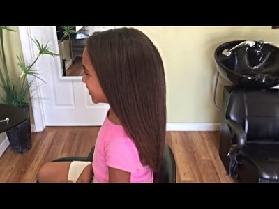 UPDATED MIXED HAIR BLOWOUT TUTORIAL (7YR OLD)