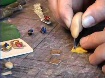 Waffles How to Make from Polymer Clay in Miniature by Garden of Imagination