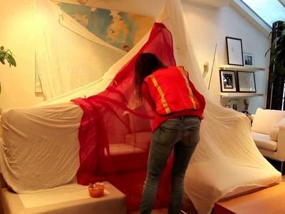 Winter Blanket Fort