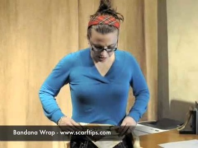 Www.ScarfTips.com - How To Tie A Scarf Into A Bandana Wrap