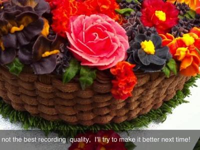 Buttercream Flowers Basket Cake