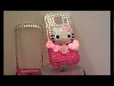 Custom Hello Kitty Transitional Bling LG OPtimus S Cellphone Cover.