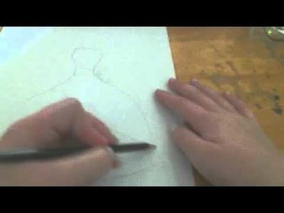 Drawing a cinderella like dress