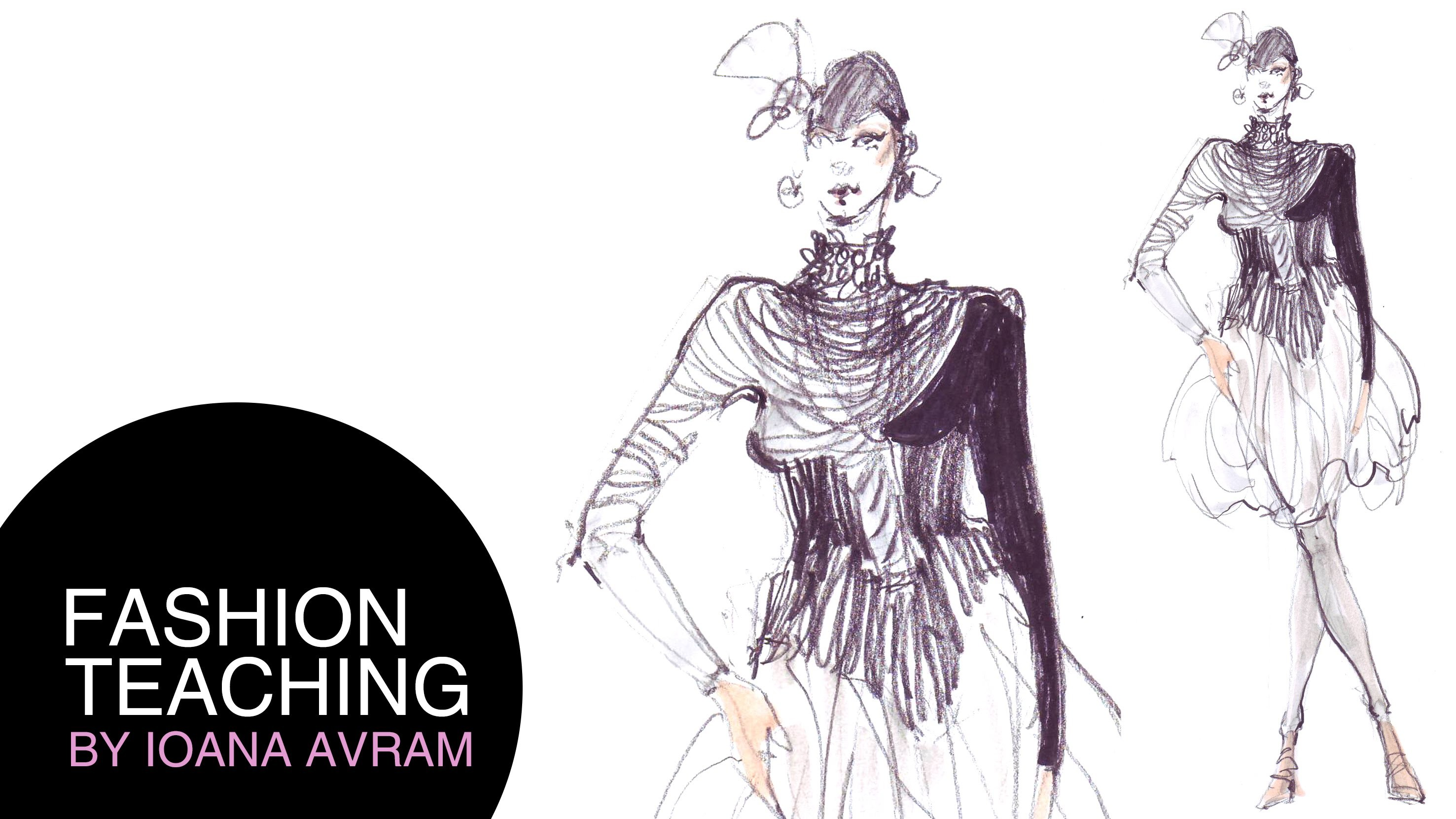How to draw fashion sketches