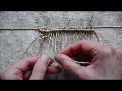 Macrame: How to Weave?. Makramee Design Element
