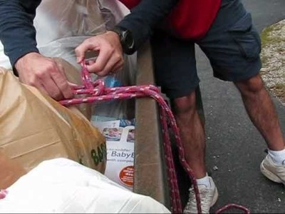 Paracordist How To tie the Truckers Hitch knot for tying down items in a trailer or roof rack