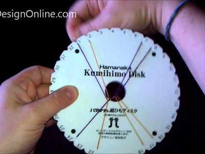 Shippou braid on a kumihimo disk