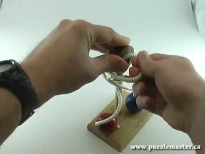 Solution for Loop de Loop from Puzzle Master Wood Puzzles