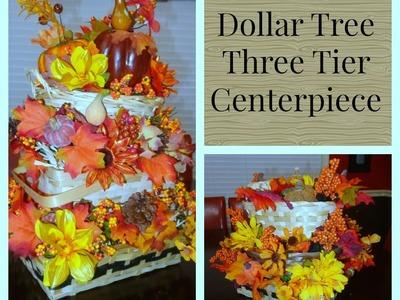 Three Tier Basket Fall Flower Arrangement