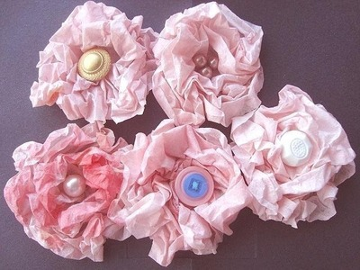 Tinted Coffee Filter Rose Flower