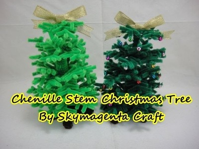 CHRISTMAS Craft - Chenille stem. pipe cleaners Christmas Tree