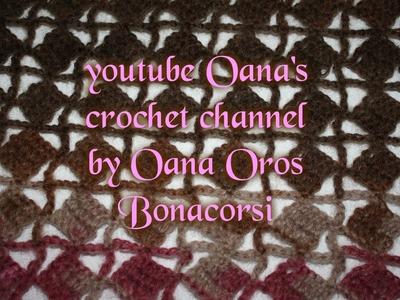 Crochet diamonds into squares stitch
