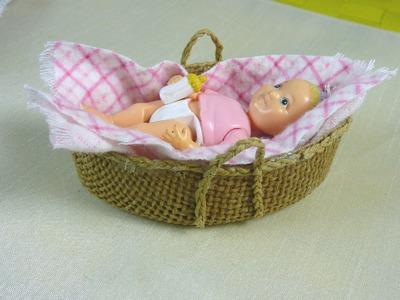 Dollhouse Miniature Moses Basket