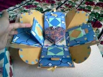 Explosion Box - Scrapbook. with origami box