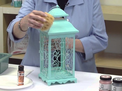 FolkArt Home Decor: How to Create A Faux Patina Finish With Donna Dewberry