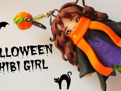 Halloween Chibi Girl Polymer Clay Tutorial