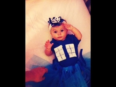 HOW TO MAKE A BABY TARDIS COSTUME(No Sew.Easy)