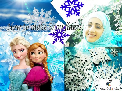 How to make Snowflake decorations for Frozen or Xmas Party | Fatema's Art Show
