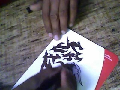 How to make tattoo on paper