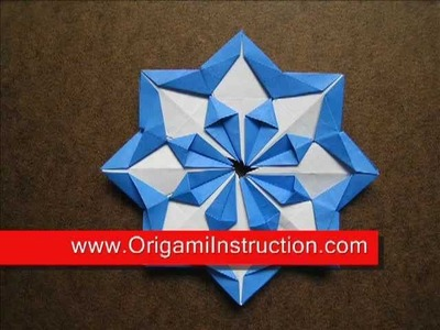 Paper Folding Origami Modular Diamond Star
