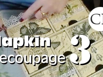 Paper Napkin Decoupage Part 3