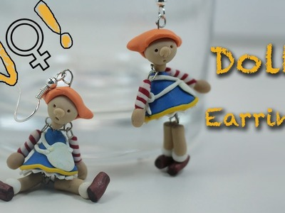 Polymer clay earring tutorial - How to make a miniature dolls
