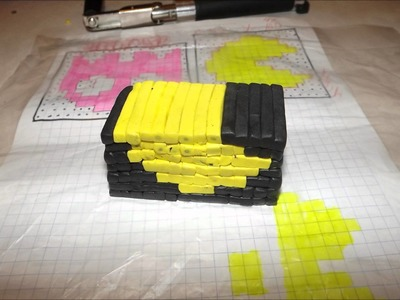 Polymer clay extruder sprite cane Skull & Pacman