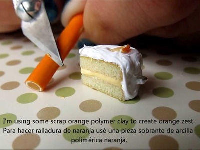 Polymer Clay Miniature Orange Cake for Earrings Tutorial
