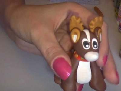 Polymer Clay Rudolf the Red-nosed Reindeer Tutorial