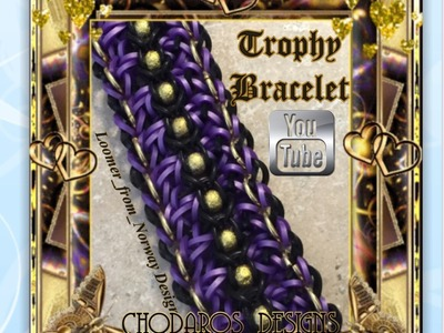 Rainbow Loom Band Trophy Bracelet Tutorial. How to